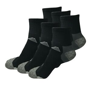 6 Pairs Mens Mid Cut Ankle Quarter Athletic Casual Sport Cotton Socks Size 6-12