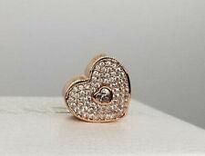 Genuine Pandora Rose Gold ALE R  Sweetheart Charm Heart 781555CZ PC89