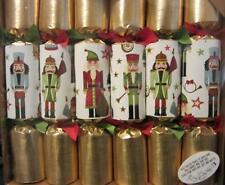 6 Luxury Gold Foil Nutcracker Motif Christmas Crackers Nutcracker Ornament in ea