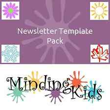 NEWSLETTER TEMPLATE PACK - childminder, nursery, EDITABLE TEMPLATES!