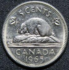 1965 Canada 5 Cents Nickel Coin