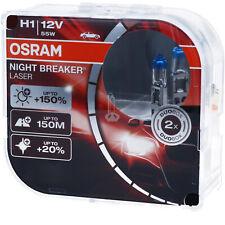 OSRAM H1 Night Breaker LASER Next Generation 150% mehr Helligkeit Power DUO BOX