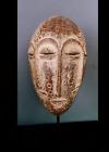 Old Tribal Lega Bwami 4 Eyes   Mask    --- Congo