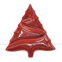 Vintage Atlantic Mold Divided Ceramic Christmas Tree Platter Tray Serving Dish