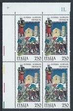 1985 ITALIA FOLCLORE POTENZA LA SFILATA DEI TURCHI QUARTINA MNH ** - C0-3