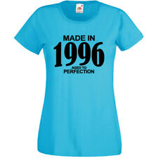 Made In 1996 Aged To Perfection T-Shirt Mens Womens Funny Birthday Gift 21st