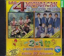 Los 4 de Michoacan El Reencuentro Con La Raza 2X1 27 Exitos CD New Nuevo Sellado