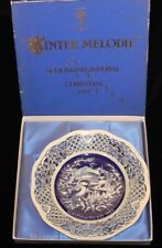 BAVARIA SCHUMANN IMPERIAL WINTER MELODIE PLATE * CHRISTMAS 1982 in box * NICE!