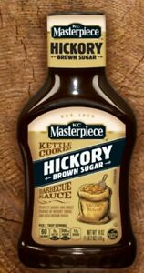 (4 Pack) KC Masterpiece Hickory Brown Sugar Barbecue Sauce, 18 oz