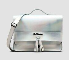 "Dr Martens 13"" Iced Metallic Leather Tassel Satchel Bag Silver Lazer"