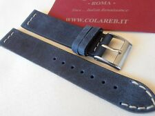 Cinturino pelle vintage ColaReb VENEZIA blue navy 18mm watch band strap bracelet