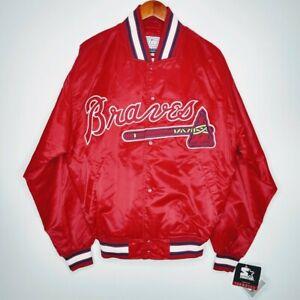 Vintage Starter Atlanta Braves Jacket Men's Size M Red