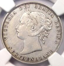1874 Canada Newfoundland Victoria 50 Cent (50C, Half Dollar Coin) - NGC XF Dets