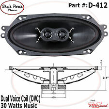 "RetroSound D-412 DVC 4x10"" Factory Dash Replacement Speaker 30W-Ford"