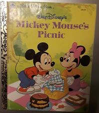 New listing A Little Golden Book~Mickey Mouse's Picnic-1950