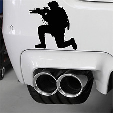 Army Soldier & Military Rifle Car Decal Air Soft PaintBall USMC Special Forces