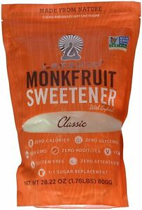 Classic White Sugar Free Sweetener by Lakanto, 800 gram pouch 1 pack