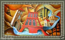 """Painting Original oil painting 29x16""""  contemporary Art Pronkin Surrealism Water"""