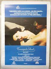 BLUE VELVET David Lynch rare Spanish 1st release movie poster backed for framing