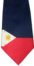 PHILLIPINES FLAG NECKTIE NEW TIE PEOPLE COUNTRY FILIPINO PRIDE MANILA JEEPNEY