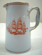 COPELAND SPODE CHINA ENGLAND TRADE WINDS RED JUG 6-INCHES TALL 24-OZ.