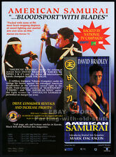 AMERICAN SAMURAI__Orig. 1993 Trade AD movie promo__DAVID BRADLEY__MARK DACASCOS