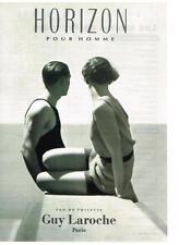 PUBLICITE ADVERTISING  1993    GUY LAROCHE  eau de toilette HORIZON