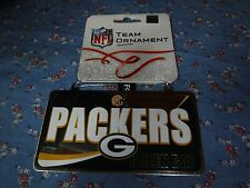 NWT Christmas Ornament Green Bay Packers License Plate 3 15/16 x 2 1/8 inches