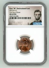 2019 W LINCOLN CENT 1C UNCIRCULATED NGC MS 69 RD FIRST DAY OF ISSUE 4967318-086