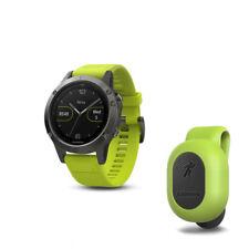 GARMIN fenix 5 Montre Gray bracelet jaune 010-01688-02 avec Running Dynamics Pod