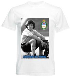 Diego Maradona T-Shirt Fußball Dios 10 Diego W4