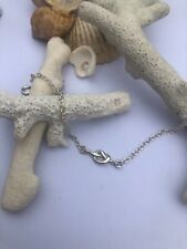 Sterling Silver Bracelet with Sterling Silver Love Knot ~ HANDMADE IN THE UK