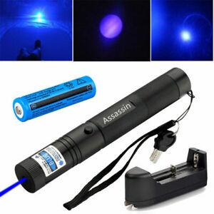 Laser Puntero de Haz Azul Purpura 405nm Astronómico Cargador y Bateria