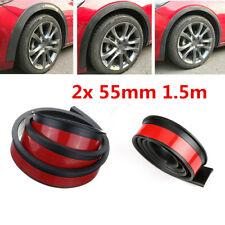 Car Wheel Fender Extension Flares Arch Protector 5.5cm Rubber Strip Accessories