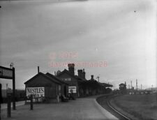 PHOTO  BARRY DOCK RAILWAY STATION GWR 1922 VIEW LOOKING TOWARDS BARRY