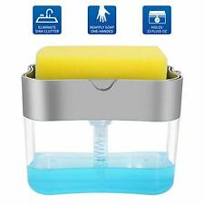 Aeakey Soap Pump Dispenser and Sponge Holder for Kitchen Sink Dish Washing Soap