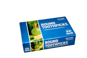 Royal Round Wood Wooden Toothpicks (800 Ct Box)