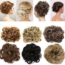 5Color Women Ladies New Real Pony Tail Hair Extension Bun Hairpiece Scrunchie