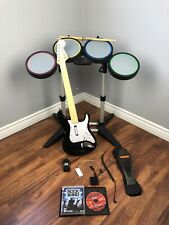PS4 PS3 Rock Band bundle with drums guitar + 2 Games