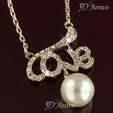 Crystal Letters, Numbers & Words Fashion Pendants
