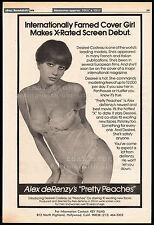 PRETTY PEACHES__Original 1978 Cannes Trade AD/ poster__DESIREE COUSTEAU__COSTEAU