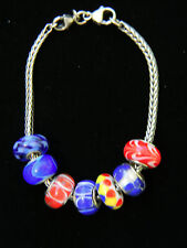 7 Trollbeads and Sterling Silver Bracelet 7.5 Inches