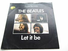 THE BEATLES ORIG 1970 UK 45 LET IT BE solido Centro Lucido Manica