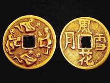 3 CHINESE 4cm L COPPER SEX LIFE HAPPINESS COIN WOMEN MEN HEN STAG PARTY GIFT PO