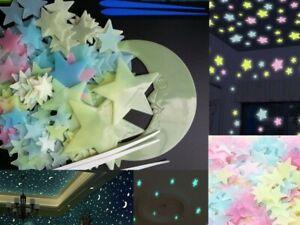 The Dark Stars Glow Snow Flakes Wall Stickers Kids Bedroom Nursery Ceiling Fun