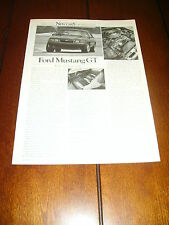 1985 FORD MUSTANG GT 5.0   ***ORIGINAL 1985 ARTICLE***