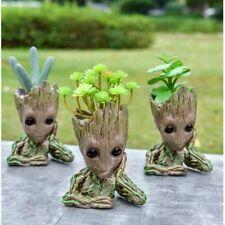 Baby Groot FLOWER PLANTER POT Cute Treeman Flowerpot Green Plants / Pan Holder