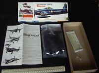 1960s/1970s Vintage Hawk Grumman F8F-2 Bearcat USN Carrier Fighter 1/48 Scale