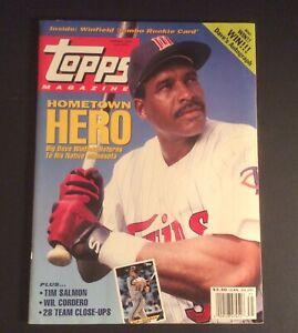 Topps Magazine Spring 1993 #14 w/Dave Winfield Jumbo Rookie Card