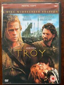 Troy DVD 2004 Homer Iliad Greek Trojan Horse Action Movie 2-Discs Rental Version